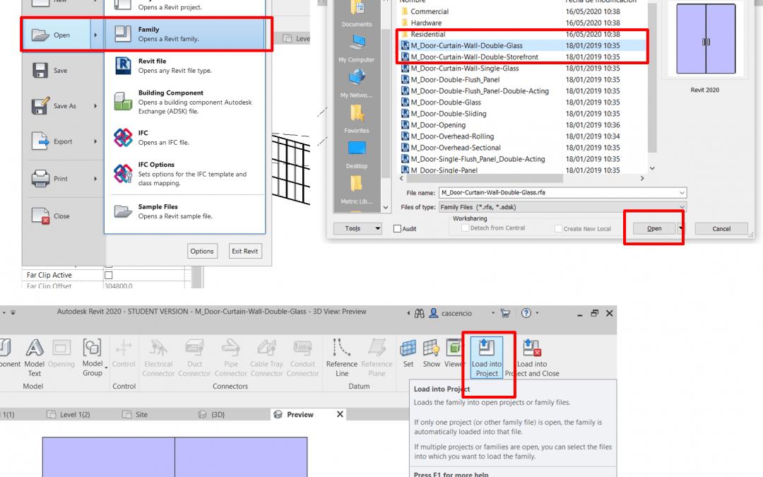 DIPLO_6.2 Insercion de Puertas en muros cortinas